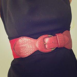 Red Belt Charming Charlie